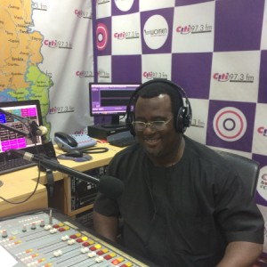 Dr Emmanuel Hopeson in studio